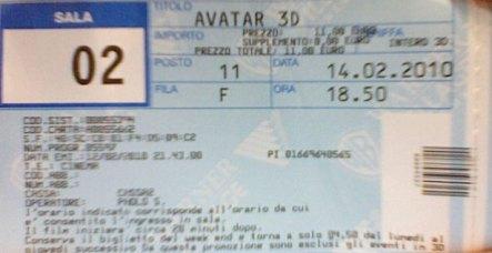 Biglietto per Avatar