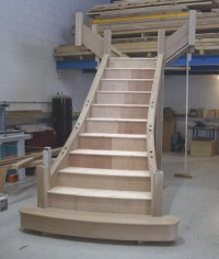 Oak Flaired Staircase - Staircase Specialists