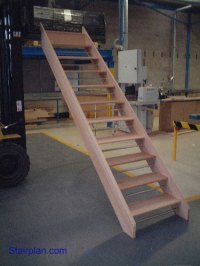 Openplan Staircase - Wooden Staircases made to measure UK