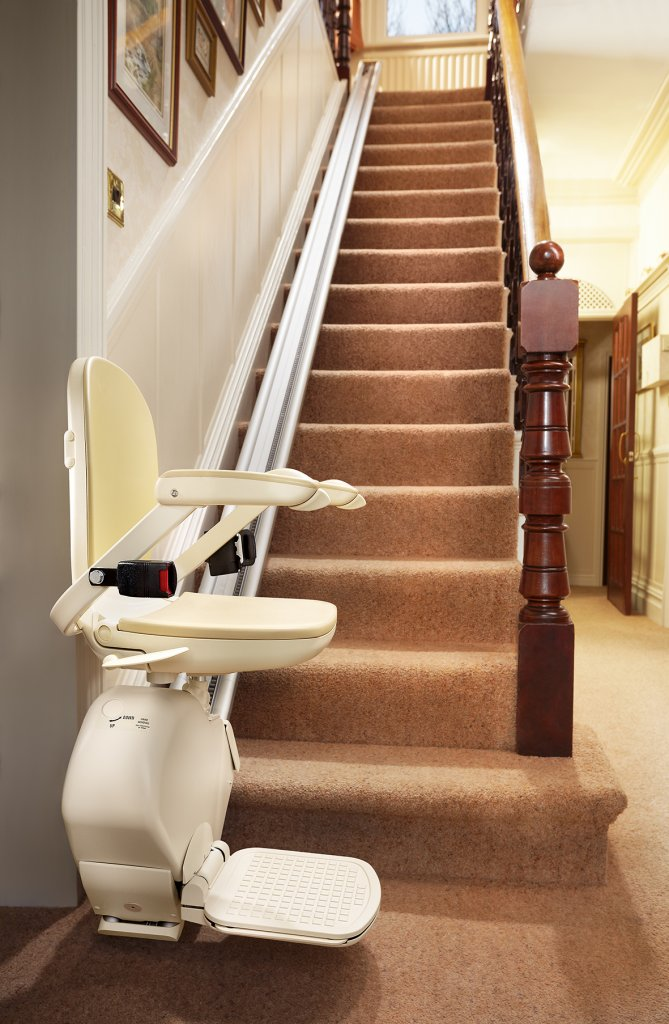 Brooks 130 Slimline Stairlifts  Photos  Stairlift Solutions
