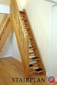 Open Riser Space Saver Staircases