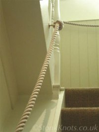 Stair ropes, bannister rope, rope handrails and barrier ...