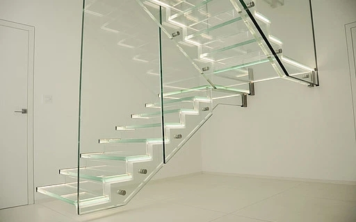 Glass Stairs Siller Stairs | Glass For Stairs Price | Laminated Glass | Stairwell | Glazed | Outdoor | Toughened