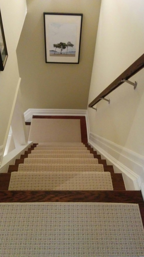 Wool Carpet Runner Stairs First   Carpet For Stairs And Landing   Textured   Patterned   Silver   Neutral   Hardwood