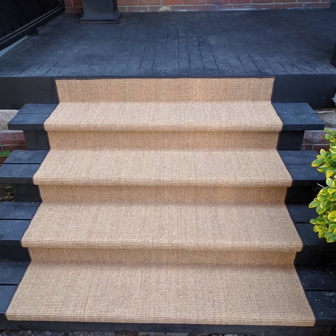 Outdoor Carpet Runner For Front Porch And Stairs Outdoor Living | Outdoor Carpet For Steps | Front Entrance | Marine | Navy Pattern | Rubber | Diy