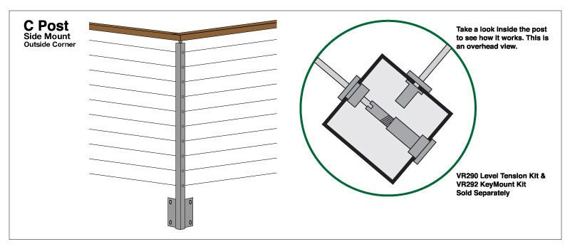 Side Mount Universal Top Square 2