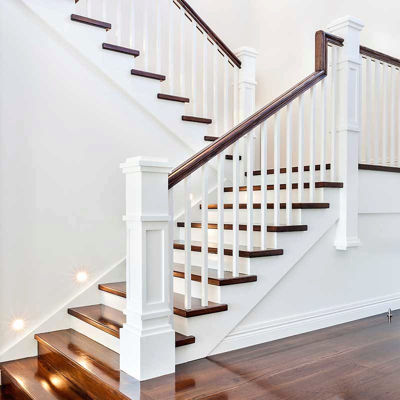 A Craftsman Style Stair Remodel Done Right Stairsupplies™   Craftsman Stair Railing Designs   Homemade   Simple 2Nd Floor Railing Wood Stairs Iron Railing Design   Entryway Stair   Plain Traditional Stair   Floor To Ceiling