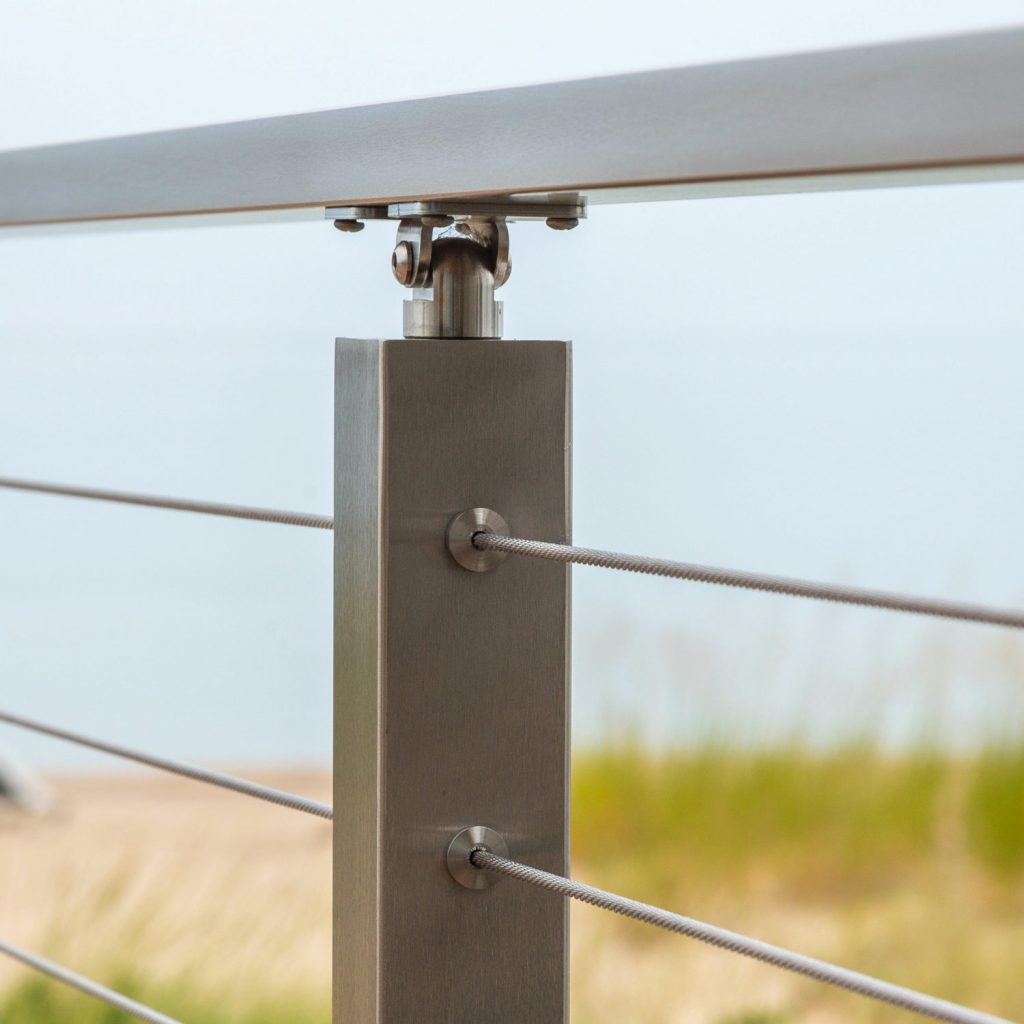 Cable Railing Posts Stainless Steel  Powder Coated Posts