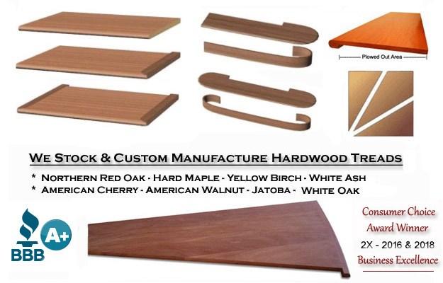 Stair Treads Risers — Stair Treads Usa | Prefinished White Oak Stair Treads | Quarter Sawn | Stair Nosing | Hardwood Floors | Handrail | Stair Railing