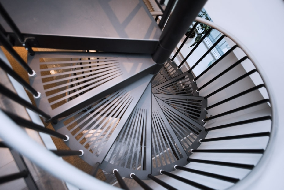 Spiral Stairs Spiral Staircases For Sale The Stairway Shop | Stair Rails For Sale | Interior | Steel | Iron Rail | Minimalist | Modern
