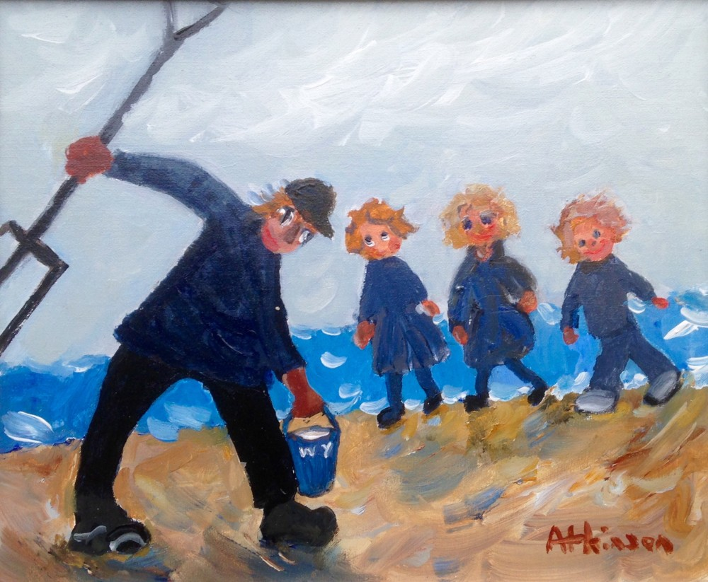 Current Painting at Staithes Gallery