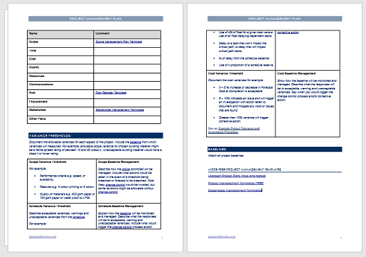 Sometimes it's tempting to take shortcuts, but fight the urge when creating a new word template. Project Management Plan Template Free Download