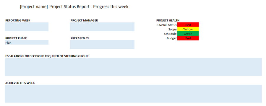 Include all tasks your team estimated they could complete. Project Status Report Excel Template Free