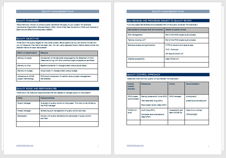 Using a building security risk assessment template would be handy if you're new to or unfamiliar with a building. Quality Management Plan Template Free Download