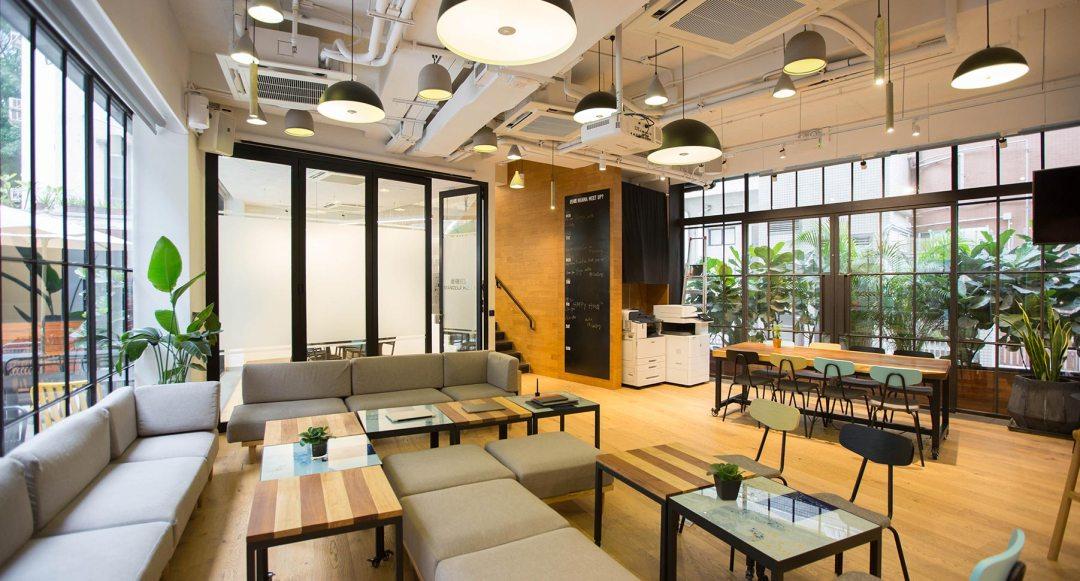espace co-working d'un lieu innovant