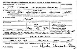 US Registration for Charles Piercey