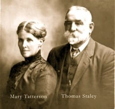 Thomas Staley and his wife, Mary Tatterson