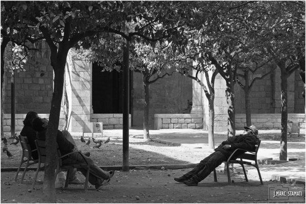 L'heure de la sieste à Barcelone
