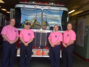 Stamford Firefighters Wear Pink For Mother's Day