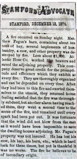 Fagans Barn fire