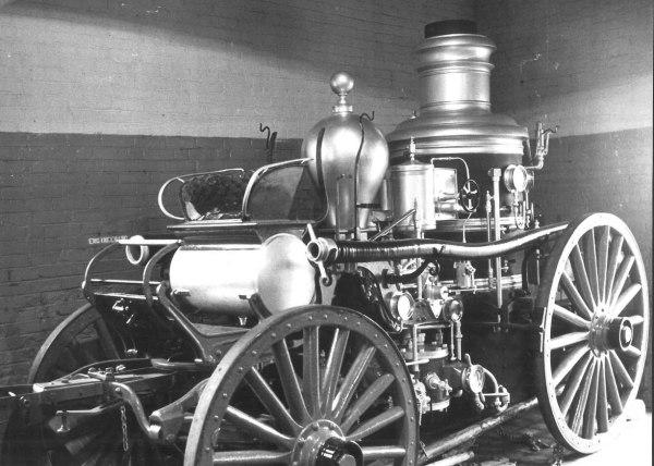 The Amoskeag Steamer in old Lockwood Fire Station