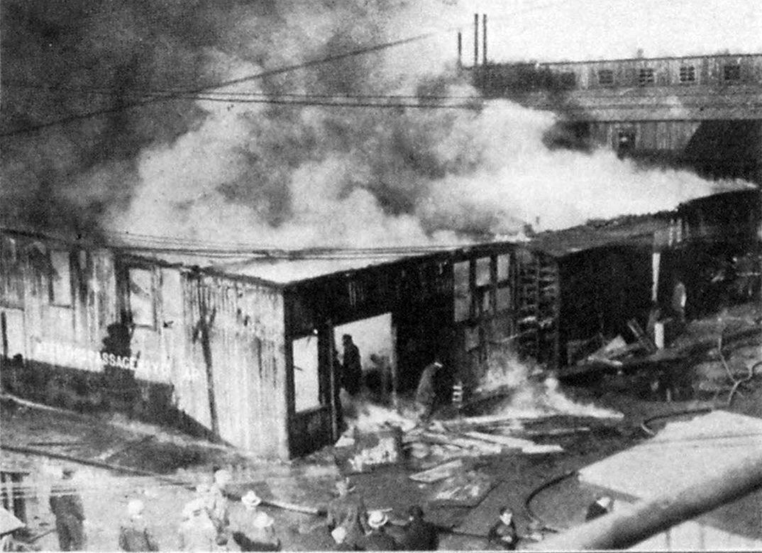 Luders Marine Company Fire