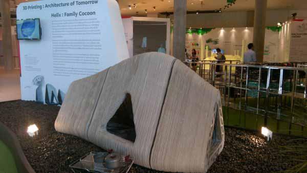 Padiglione stampato in 3D Y-Box