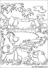 Disegni di Il libro della giungla da colorare