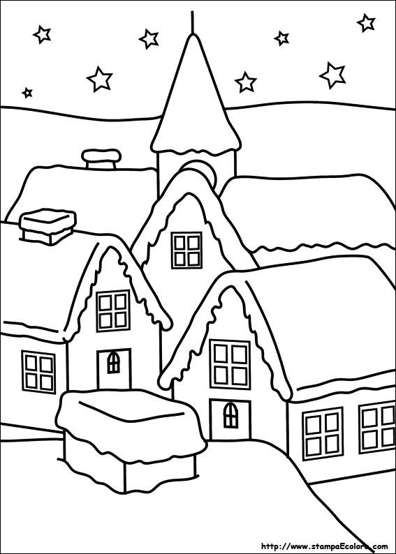 Disegno paesaggio invernale su cartoncino nero idee di for Disegno paesaggio invernale