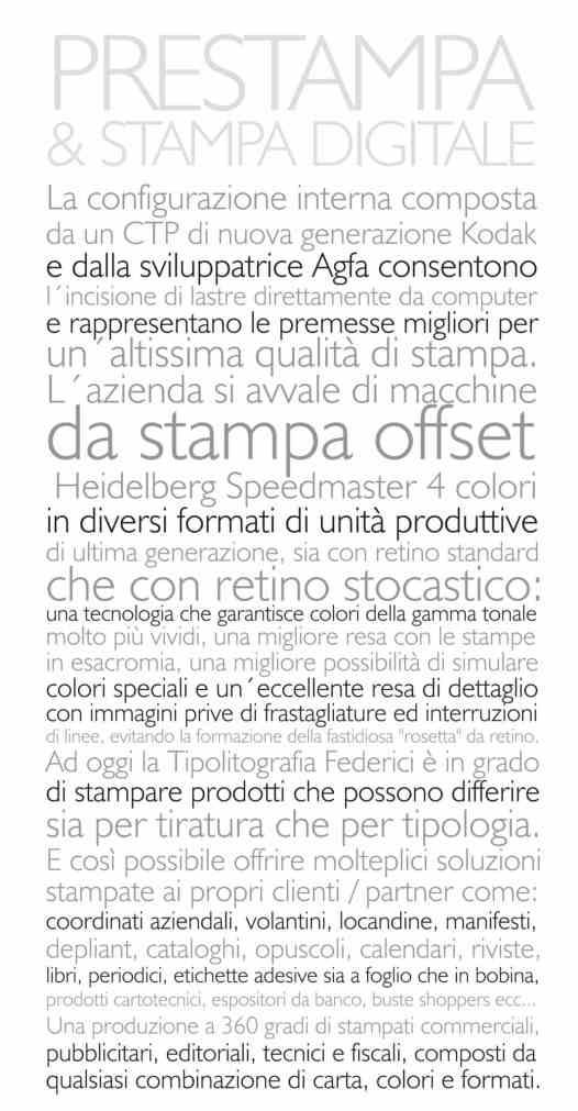 Prestampa e stampa digitale - Tipolitografia Federici - Terni (Umbria)