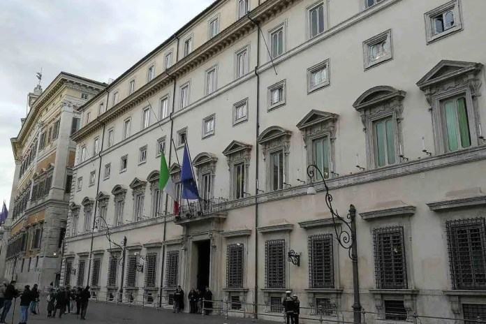 aziende palazzo Chigi sede del governo italiano a Roma