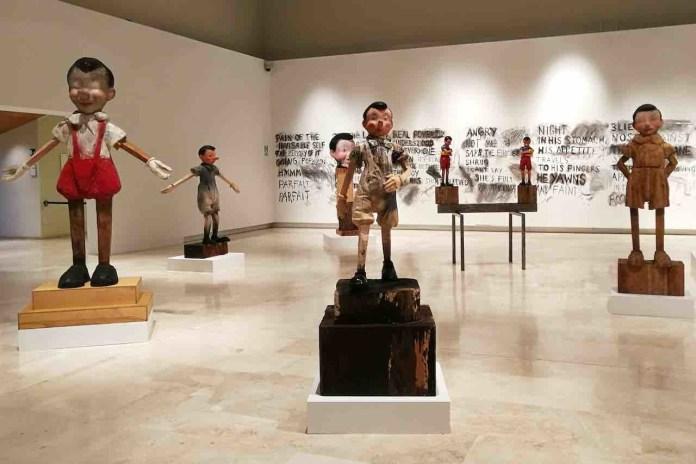 Sculture di Pinocchio realizzate da Jim Dine