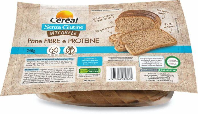 Céréal, pane fibre e proteine