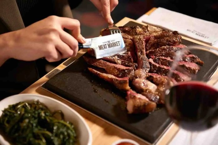 Piatto di carne al The Meat Market