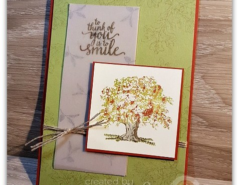 Thumping Technique with Lovely as a Tree by Leonie Schroder Independent Stampin' Up! Demonstrator Australia
