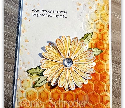 Honeycomb Daisy Delight by Leonie Schroder Independent Stampin' Up! Demonstrator Australia