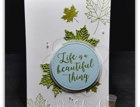 Beautiful Leaves using Colourful Season by Leonie Schroder Independent Stampin' Up! Demonstrator Australia