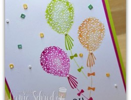Watercolor Resist Balloons by Leonie Schroder Independent Stampin' Up! Demonstrator Australia