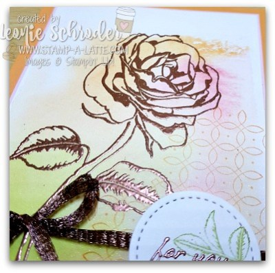 Painted Acrylic Block Technique by Leonie Schroder Independent Stampin' Up! Demonstrator Australia