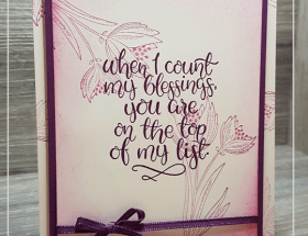 Count My Blessings by Leonie Schroder Independent Stampin' Up! Demonstrator Australia