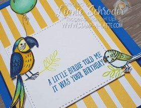 Happy Bird Day with Bird Banter and coloured with Stampin' Blends by Leonie Schroder Independent Stampin' Up! Demonstrator Australia
