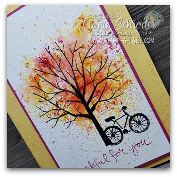 Brusho Tree created by Leonie Schroder Independent Stampin' Up! Demonstrator Australia