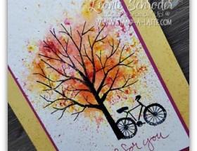 Brusho Tree created by Leonie Schroder Independent Stampin' Up! Demonstrator Australia