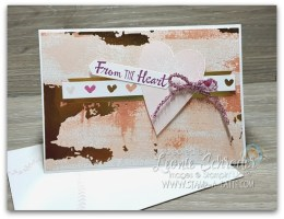 From the Heart Note Card using Painted with Love Designer Papers from Stampin' Up! Created by Leonie Schroder Independent Stampin' Up! Demonstrator Australia