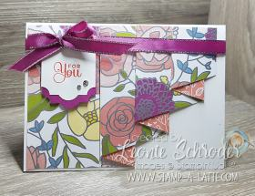Sweet Soiree Drapery Fold Card by Leonie Schroder Independent Stampin' Up! Demonstrator Australia