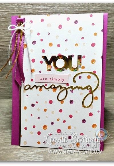 Amazing You Shaker Card by Leonie Schroder Independent Stampin' Up! Demonstrator Australia