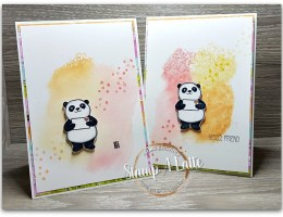 Spritzed Party Panda's by Leonie Schroder Independent Stampin Up Demonstrator Australia