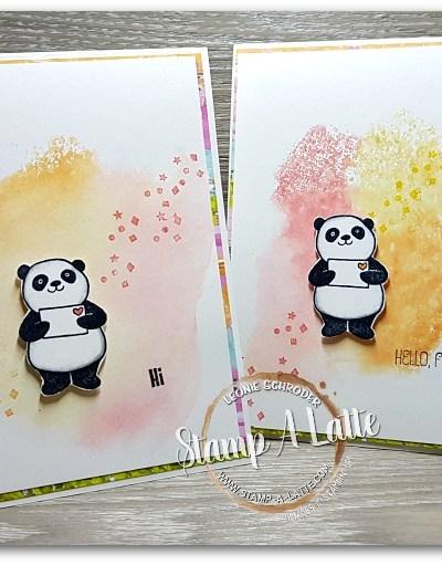 Spritzed Party Panda's by Leonie Schroder Independent Stampin Up Demonstrator Australia