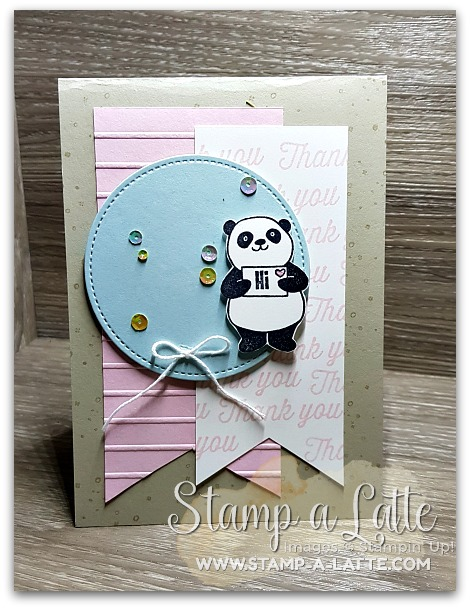 Sale-a-bration Thanks using Party Pandas by Leonie Schroder Independent Stampin' Up! Demonstrator Australia