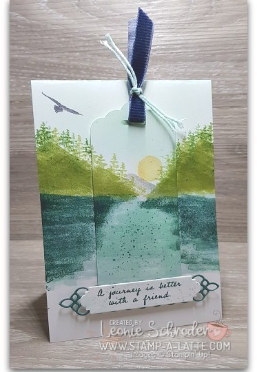 Waterfront Tag Card by Leonie Schroder Independent Stampin' Up! Demonstrator Australia